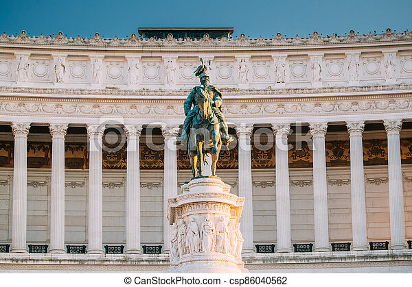 Rome, Italy. Vittorio Emanuele II Monument Also Known Altar Of The Fatherland Built In Honor Of Victor Emmanuel II - csp86040562