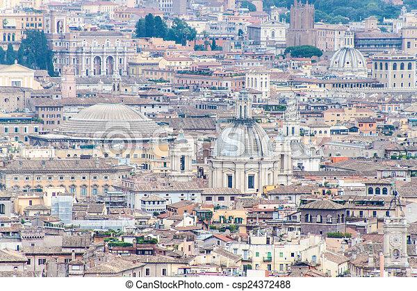 rome, luchtmening - csp24372488