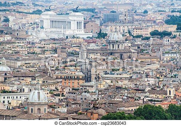 rome, luchtmening - csp23683043