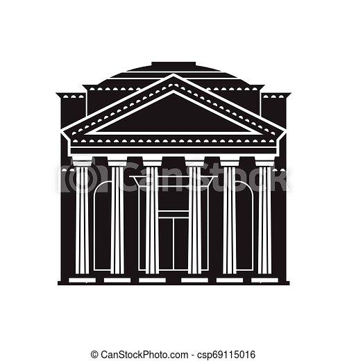 Rome Pantheon Icon - csp69115016