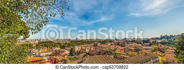 Rome Seen From Passeggiata Del Gianicolo