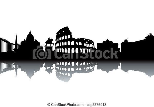 Rome skyline - csp8876913