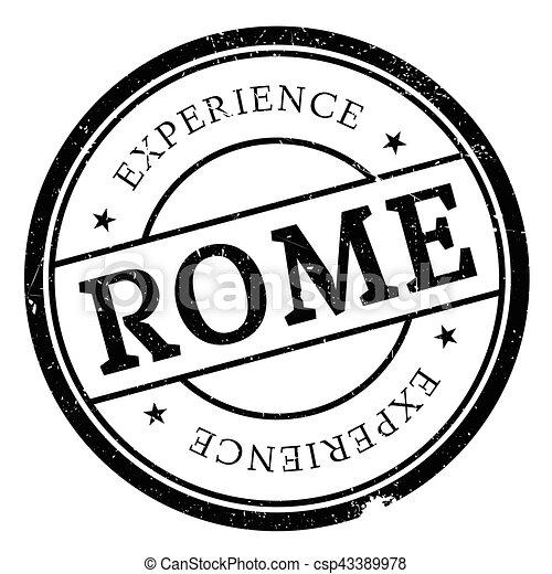 Rome stamp rubber grunge - csp43389978