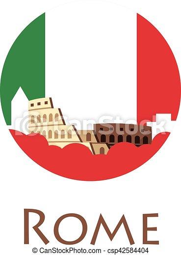 rome tourism travelling illustration rome city modern vector rh canstockphoto com