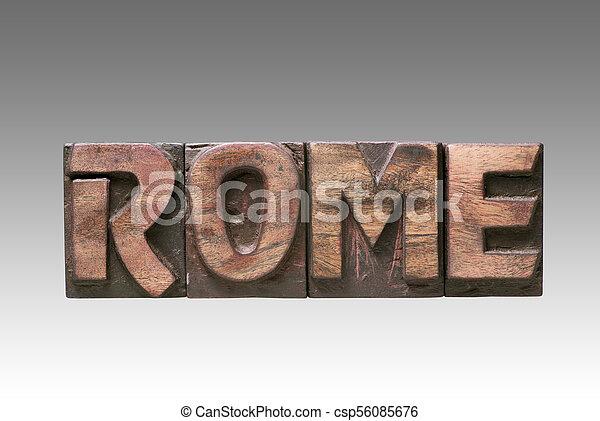 Rome vintage type - csp56085676
