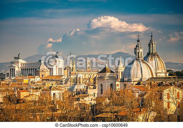 rome, vue aérienne - csp10600649