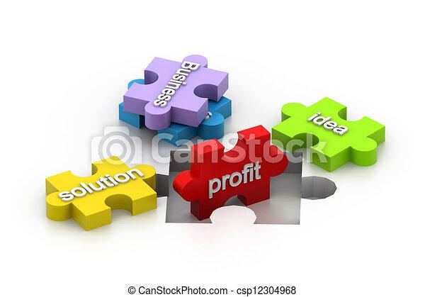 El rompecabezas muestra negocios - csp12304968