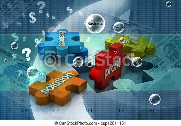 El rompecabezas muestra negocios - csp12811151