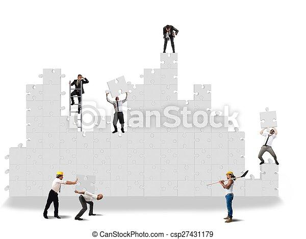 Construcción de rompecabezas - csp27431179