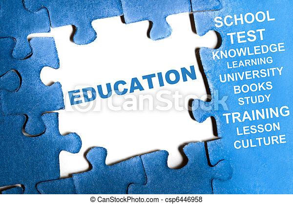 rompecabezas, educación - csp6446958