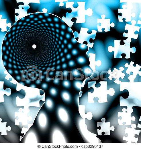 La mente del rompecabezas - csp8290437