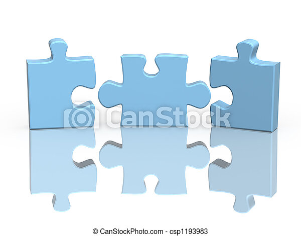 Tres partes de un rompecabezas - csp1193983