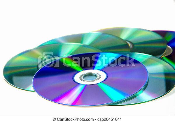 Un montón de CD roms. DVD - csp20451041