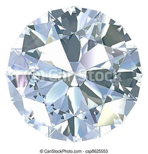 rond, coupure, vieux, européen, diamant - csp8625553