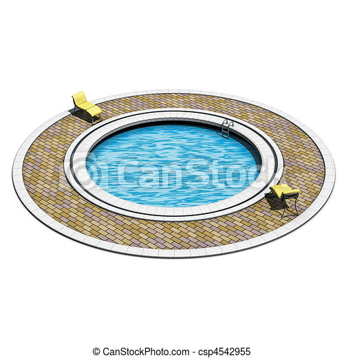 Rond piscine natation illustration rendre natation for Piscine destock