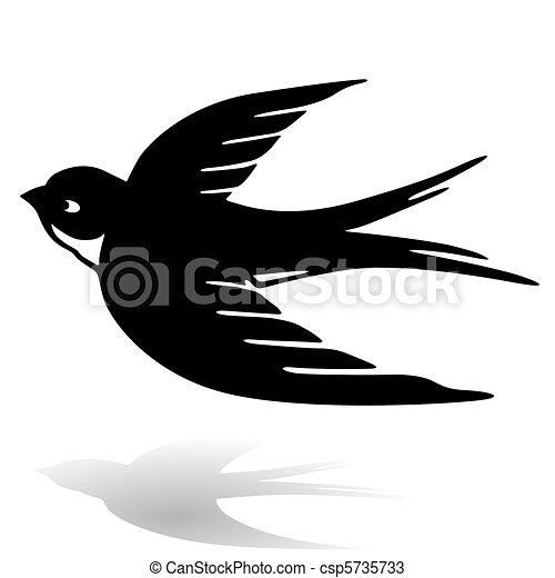 Ben noto Rondine vettori - Cerca Clip Art, Illustrazioni, Disegni e  UK55