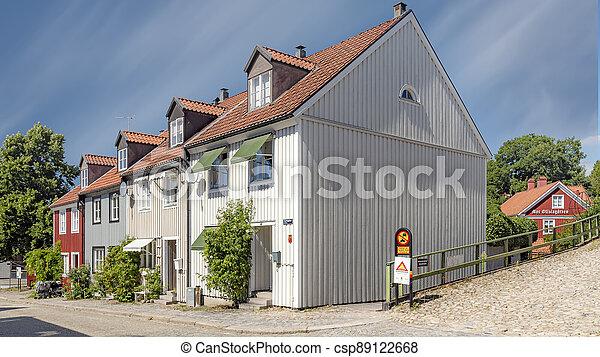Ronneby Street View Corner House - csp89122668