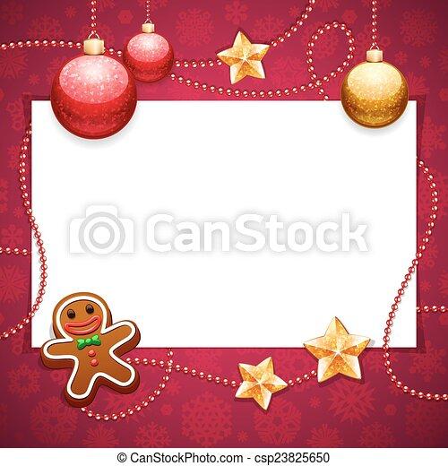 rood, kopie, kerstmis, achtergrond, ruimte - csp23825650