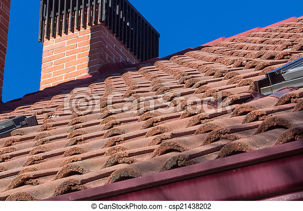 roof and chimney perspective - csp21438202