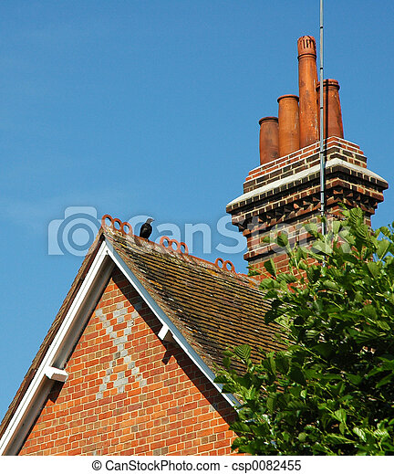 roof and chimney - csp0082455