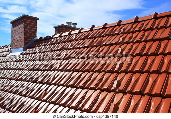 Roof and chimney - csp4397140