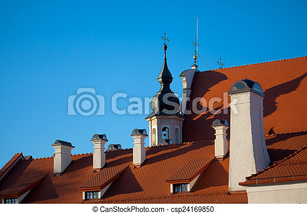 Roof of a church - csp24169850