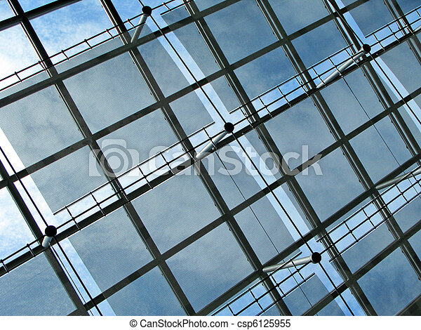 Roof of a modern building - csp6125955