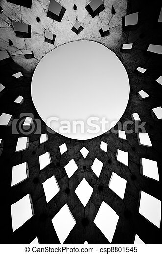 Roof of a modern building - csp8801545