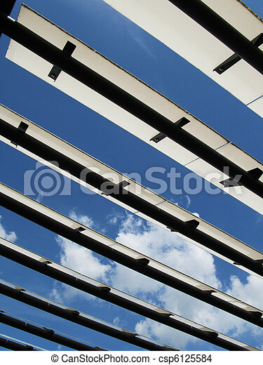 Roof of a modern building - csp6125584