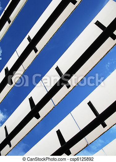 Roof of a modern building - csp6125892
