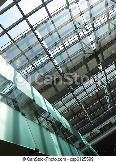 Roof of a modern building - csp6125599