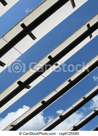 Roof of a modern building - csp6125590