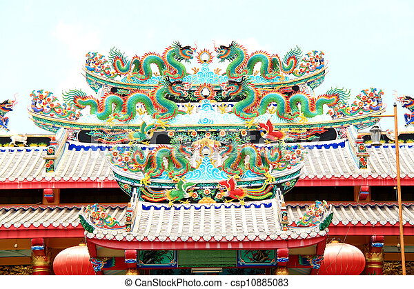 Roof of the Chinese dragon - csp10885083