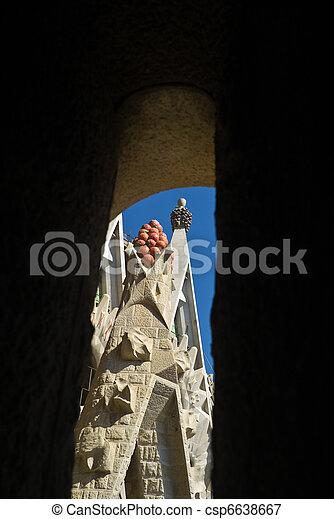 Roof of the Sagrada Familia, Barcelona, Spain - csp6638667