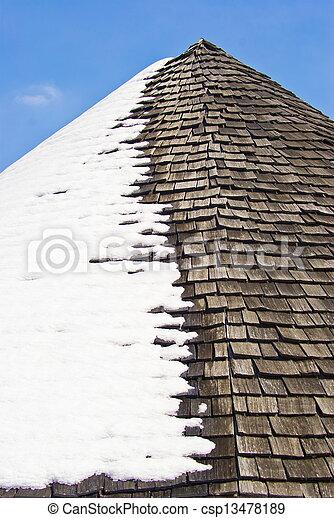 Roof snow - csp13478189