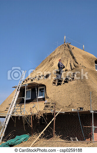 Roof thatching2 - csp0259188