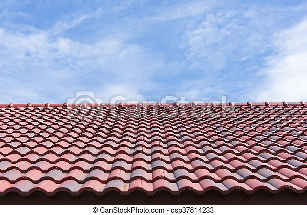 Roof tile with the sky - csp37814233