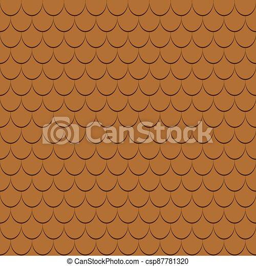 Roof tiles seamless pattern. - csp87781320