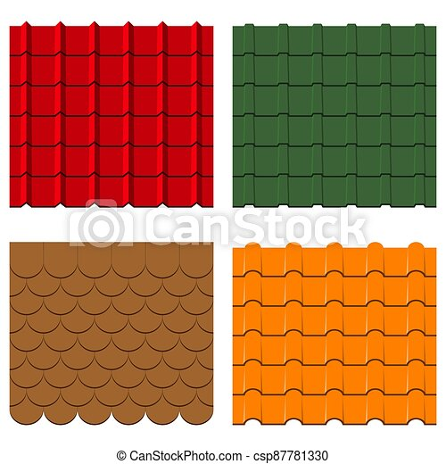 Roof tiles set. - csp87781330