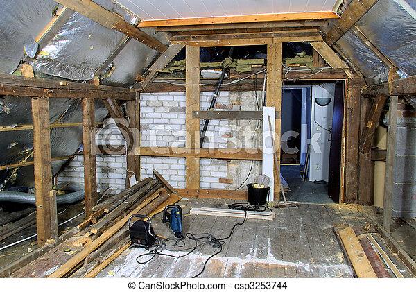 roof truss reconstruct 01 - csp3253744
