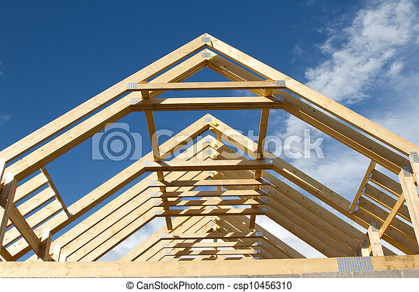 roof trusses csp10456310 - How To Build Roof Trusses