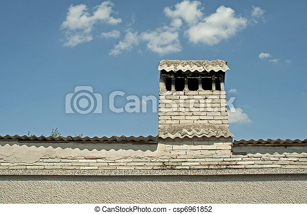 Roof with chimney - csp6961852