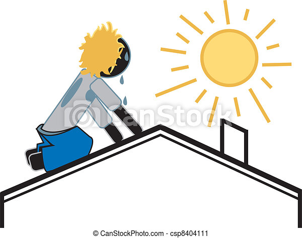 roofer on a hot sunny day simple drawing of a roofer figure rh canstockphoto com sunny fall day clipart sunny day clipart free
