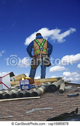 Roofing Works - csp16985878