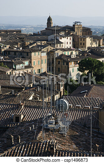 Rooftop view of Siena. - csp1496873