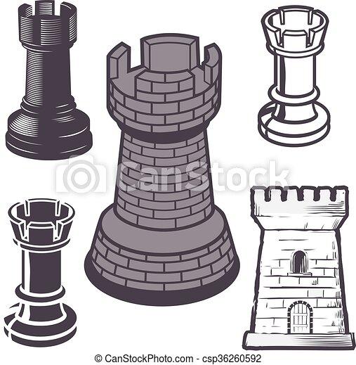 Rook Chess Pieces - csp36260592