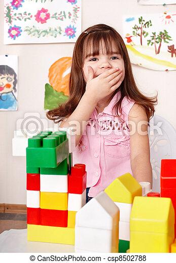 room., プレーしなさい, 木ブロック, 子供 - csp8502788