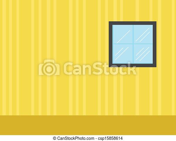 Room - Cartoon Background Vector - csp15858614