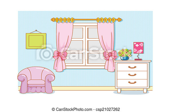 Room Cartoon - csp21027262