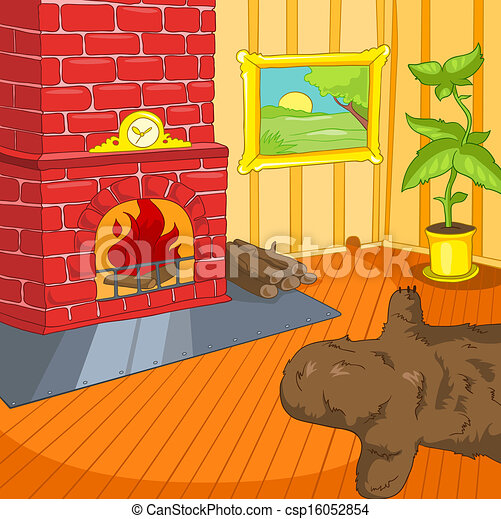 Room Cartoon. - csp16052854